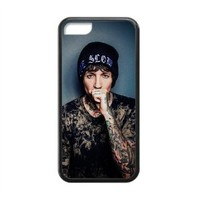 British Singer Oliver Sykes Tattoo Custom Cover Case iPhone 5C Case , 100% TPU Oliver Sykes iPhone Case