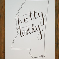 Mississippi: Hotty Toddy Print