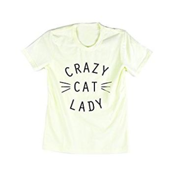 Emeri Unisex Adult's Crazy Cat Lady Quotes Cotton Tshirt