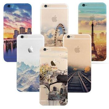 Newest Fashion For Iphone 6 6s Case Ultra Thin Soft Waterproof Silicon Mountain Landscape For Iphone 6 Plus Case Phone Cover