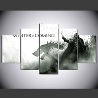 Game Of Thrones Winter Is Coming Wall Art