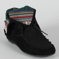 Sam-77 Lace Up Moccasin Flat Boot