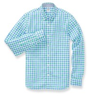 Washed Poplin - Blue Bold Check