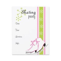 Snowflake Ice Skates Personalized Announcement from Zazzle.com