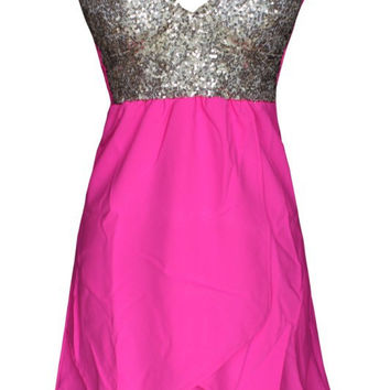 Sexy sequins strapless dress  MY0095FY
