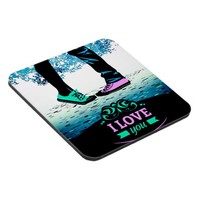 Cool Boy and girl love massage texture Beverage Coaster