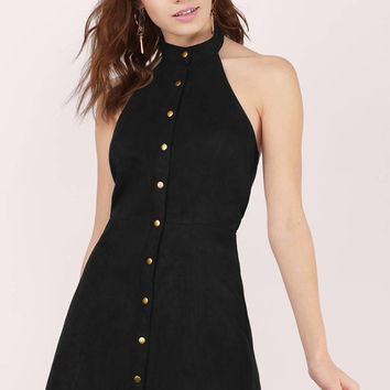 Amarah Buttoned Halter Dress