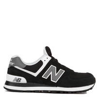 New Balance Woven 574 Sneakers in Black White