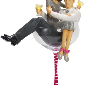 Happy Engagement! Figurine/Cake Topper & Champagne Glass