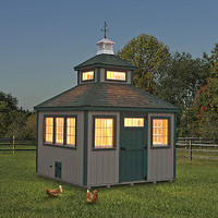 11 X 11 CHICKEN COOP PA DUTCH AMISH CUSTOM PEN POULTRY TOWER SHED HEN HOUSE FARM