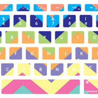 Pastel Chevron Pattern Macbook Keyboard Stickers