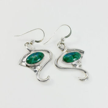 Turquoise Dangle Earrings - Sterling Teardrop Earrings - Silver Turquoise Earrings - DTR Jay King Earrings - Dessert Rose Jewelry