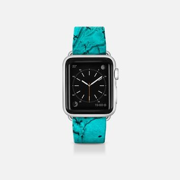 Watercolor teal Apple Watch Band (38mm)  by VanessaGF | Casetify