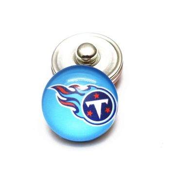 Tennessee Titans Football Sports Snaps Buttons 18mm Snap Button Jewelry Fit Snap Necklace Bracelets DIY Jewelry Accessories
