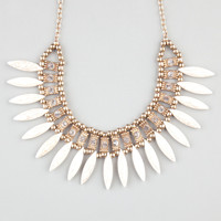 FULL TILT Marble Spike Rhinestone Statement Necklace 241912621 | Necklaces