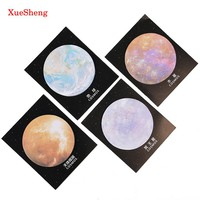 2PCS To The Universe Memo Notepad Notebook Memo Pad Self Adhesive Sticky Notes Bookmark Gift Stationery