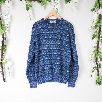 Vintage Authentic Missoni Blue Sweater