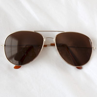 Riley Aviator Sunglasses (brown)