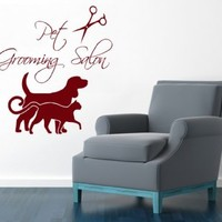 Wall Decals Vinyl Decal Sticker Dog Cat Accessories Pet Shop Puppy Pet Grooming Salon Pets Animals Home Art Decor Kids Nursery Interior Design
