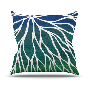 "NL Designs ""Ocean Flower"" Teal Green Throw Pillow"