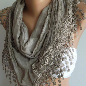 Stone Color / Elegant  Shawl / Scarf