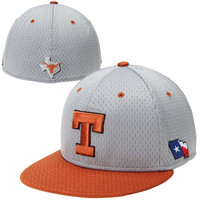 Nike Texas Longhorns Gray-Burnt Orange Authentic Baseball Mesh Fitted Performance Hat