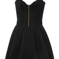 Black Cady Sweatheart Dress by Fausto Puglisi - Moda Operandi