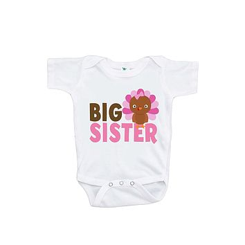 Custom Party Shop Baby Girl's Big Sister Thanksgiving Onepiece