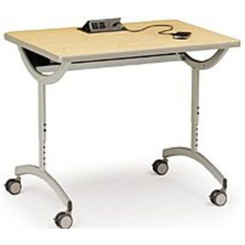 Bretford Explore EDUCDP2436C-ALMP T-Leg Laptop Table with Fluid Up Power and Casters - 36.0 x 24.0 inches