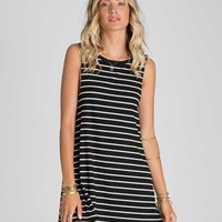 Billabong Last Call Tank Dress in Black and White JD19FLAS