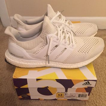 Adidas Ultra Boost 1.0 Triple White Cream Size. 12 2.0 3.0