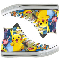 pokemon custom painted shoes, custom shoes by natalshoes