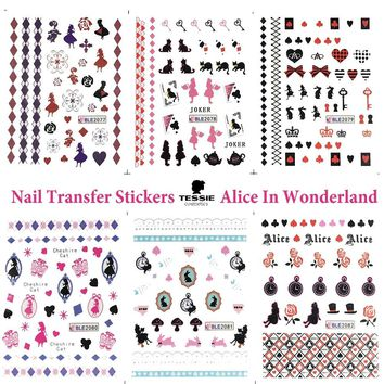 11 Sheet Alice In Wonderland Nail Stickers  Nail Decals Nail Transfer Stickers NailArtTattoo Manicure
