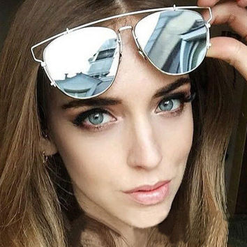 2016 Luxury Metal Reflective Sun Glasses