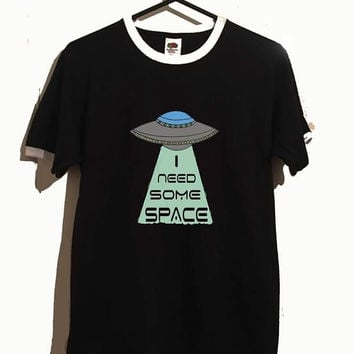 Ufo i need some space ringer tshirt 3 colours cute space alien tumblr