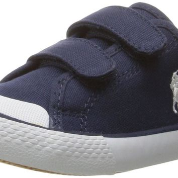 Polo Ralph Lauren Kids Kids' Camden EZ Navy Canvas Withwht PP Sneaker Toddler (1-4 Yea
