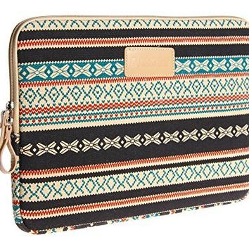 Dachee New Bohemian Style Canvas Fabric 13 Inch Laptop Sleeve Macbook / Macbook Pro / Macbook Air Sleeve Case Dell / Hp /Lenovo/sony/ Toshiba / Ausa / Acer /Samsun Ultrabook Bag Cover