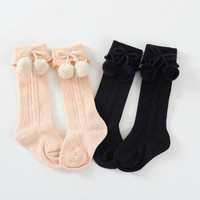 High Quality Fashion Korean Style Baby Socks,Warm New Year Christmas Socks Leg Warmers Knee High Socks 0-4T