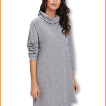 High Neck Sweatshirt Dress Extended Sizes