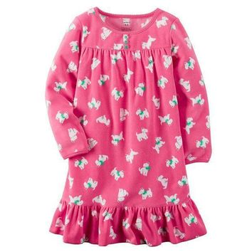 Carter's Patterned Ruffled Nightgown   Girls 4 15 Size: