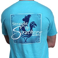 Straight Up Southern Tee in Lagoon Blue by Fripp & Folly