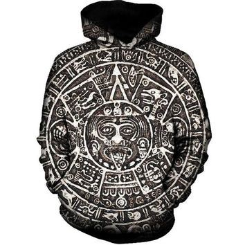 Aztec Sun - Trippy Tribal Hoodie Sweatshirt - Unisex CannaHoodies