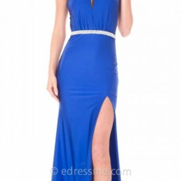 Strappy Open Back Keyhole Prom Gown by Atria
