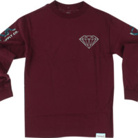 DIAMOND FAIRISLE L/S M-BURGUNDY
