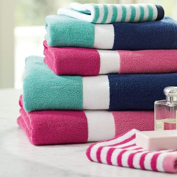 Color Block Bath Towels