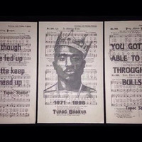 3 x Tupac Shakur 2pac lyric print Original music Book Page Wall Art Picture Gift rapper quotes