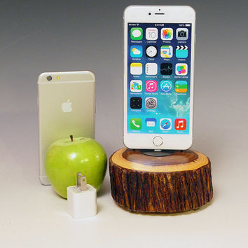 Ironwood iPhone 6 plus docking station charger for ANY generation iPhone. 714. USB wall charger. Simple, natural, beautiful. FAST shipping..