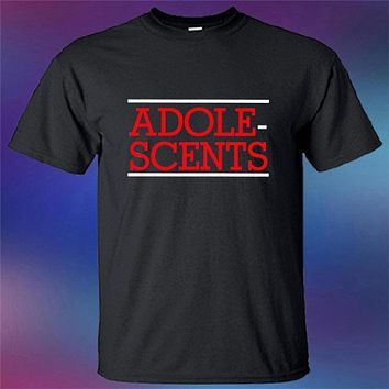 SHIRT ADOLESCENTS  Punk Rock Band Logo Men's Black Men T Shirt Summer 100% Cotton