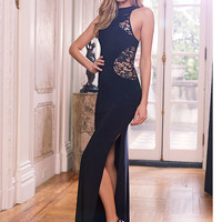 Lace Cutout Gown