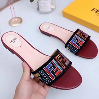 Fendi Tide brand new ladies fashion beach slippers #2